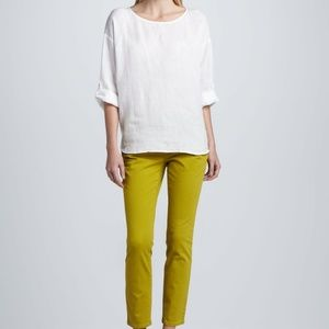 Eileen Fisher | Parrot Yellow Skinny Ankle Jeans